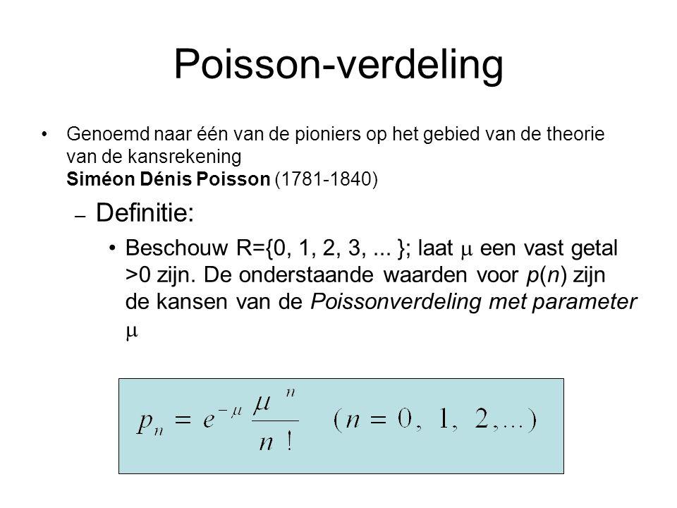 Poisson-verdeling Definitie: