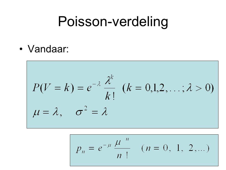 Poisson-verdeling Vandaar: