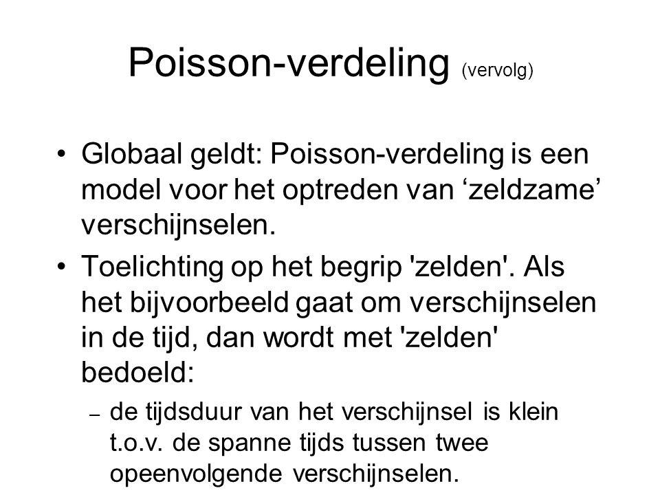 Poisson-verdeling (vervolg)