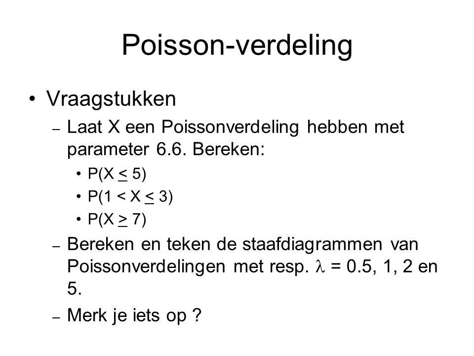 Poisson-verdeling Vraagstukken