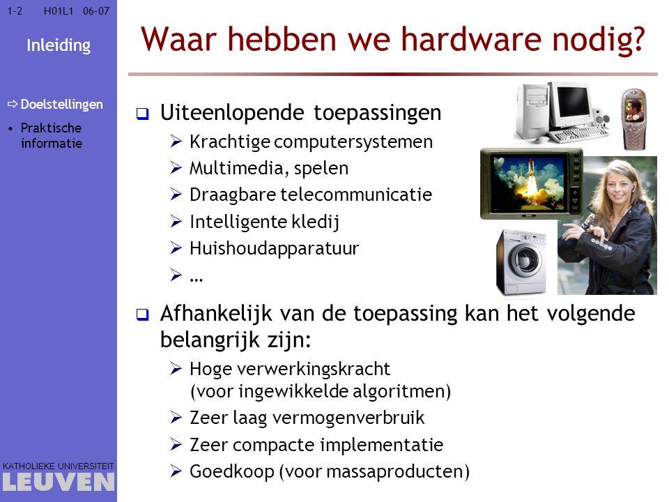 Waar hebben we hardware nodig