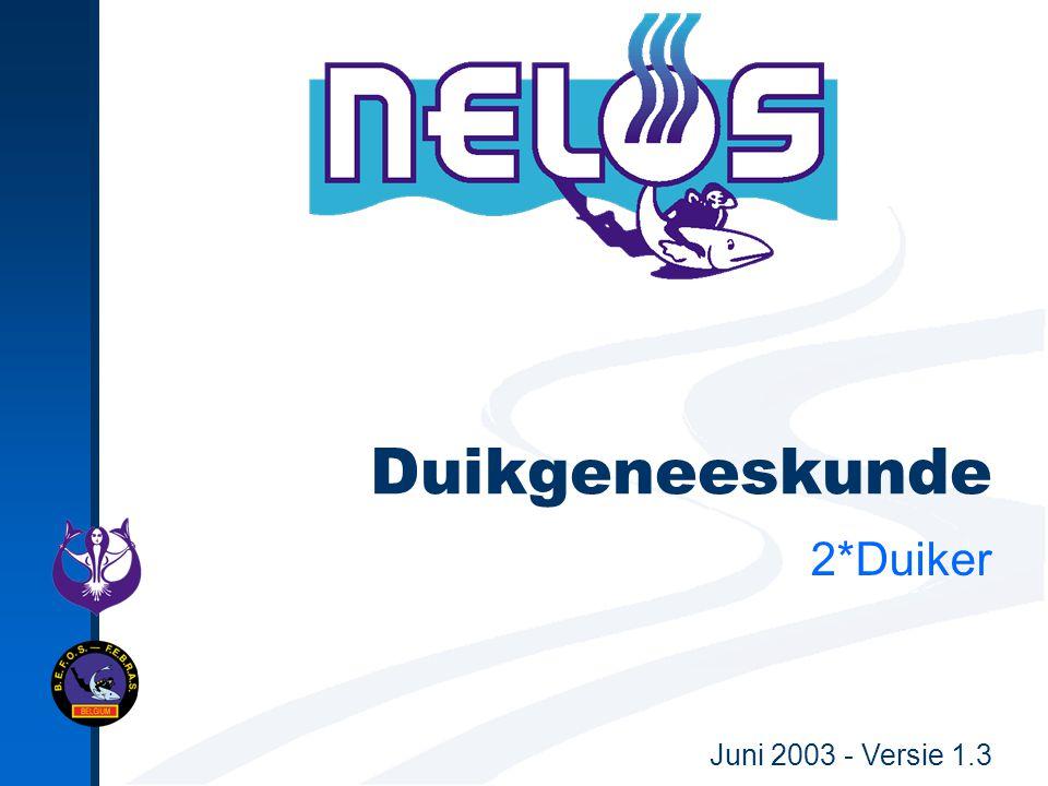 Nelos Presentatie - Verantwoordelijke uitgever : EDIT sectie 2*Duiker