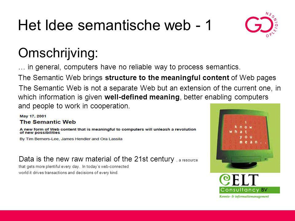 Het Idee semantische web - 1