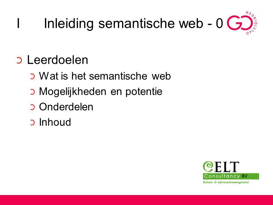 I Inleiding semantische web - 0