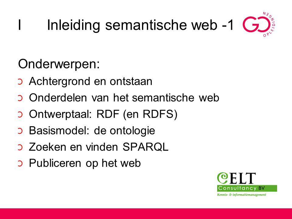 I Inleiding semantische web -1