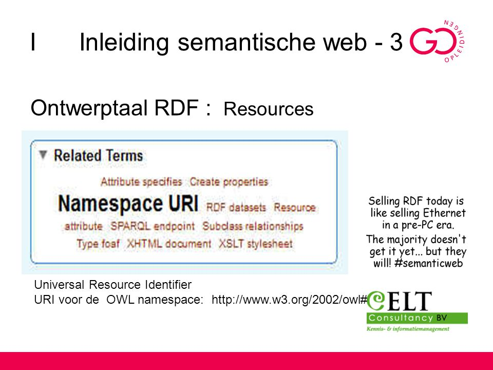 I Inleiding semantische web - 3