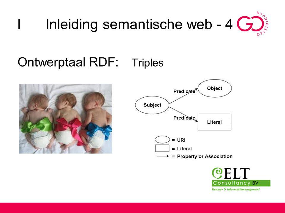 I Inleiding semantische web - 4