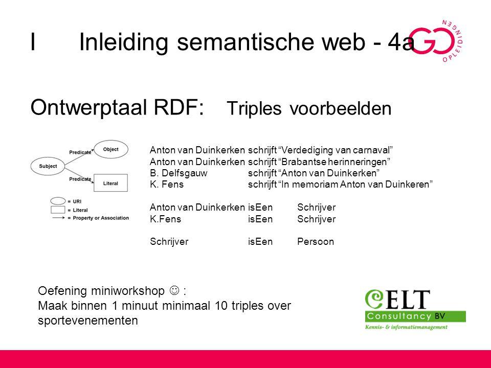 I Inleiding semantische web - 4a