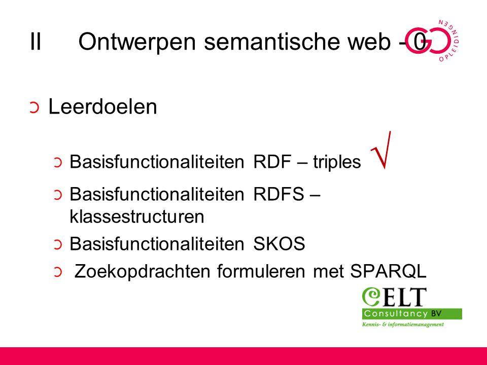 II Ontwerpen semantische web - 0