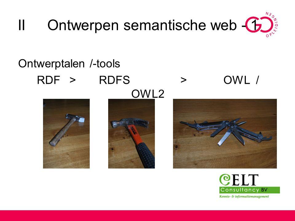 II Ontwerpen semantische web - 1