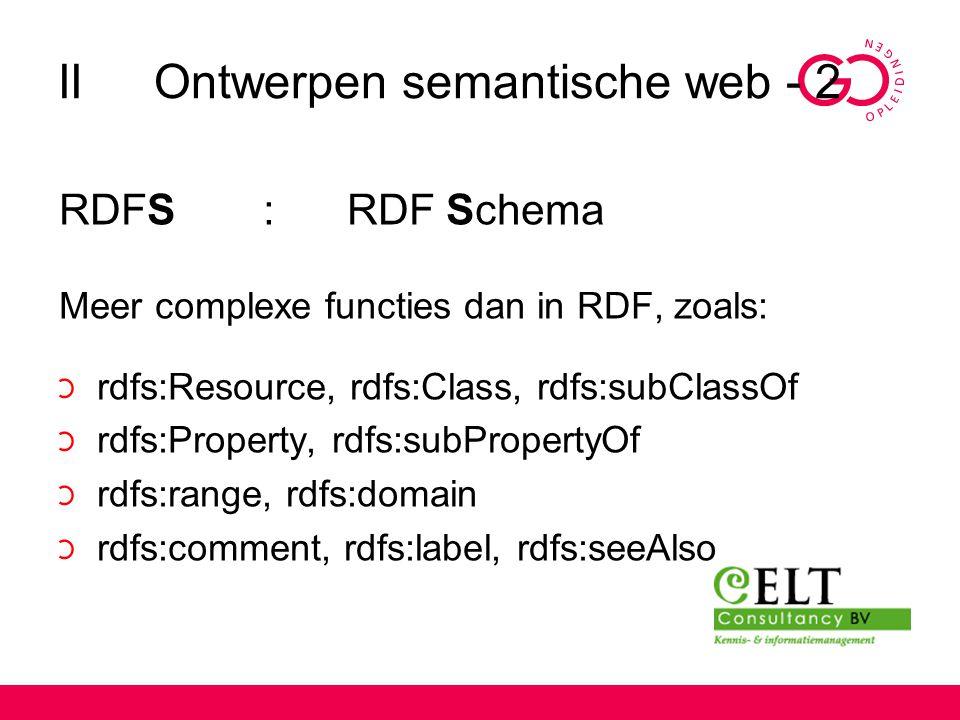 II Ontwerpen semantische web - 2