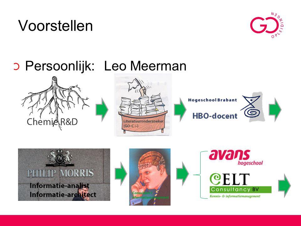Voorstellen Persoonlijk: Leo Meerman