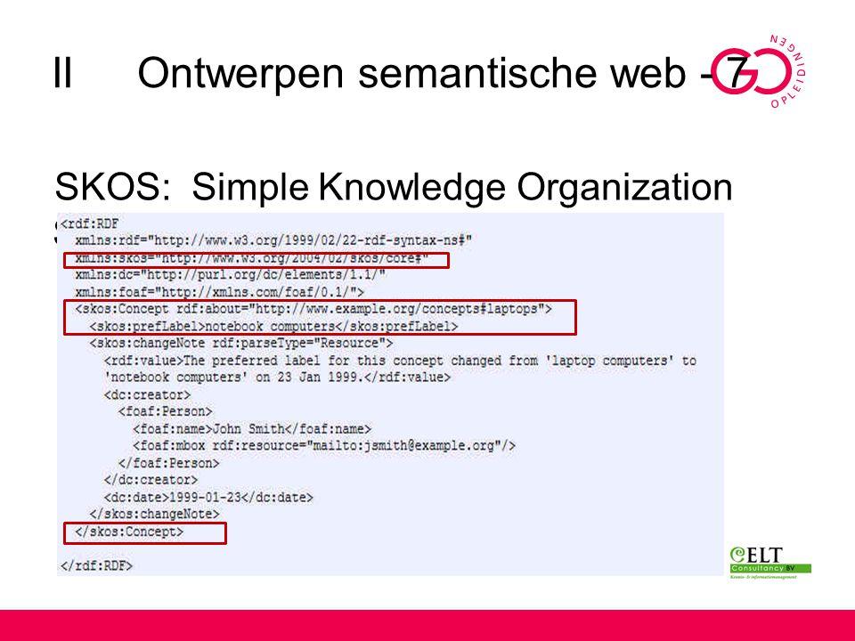 II Ontwerpen semantische web - 7