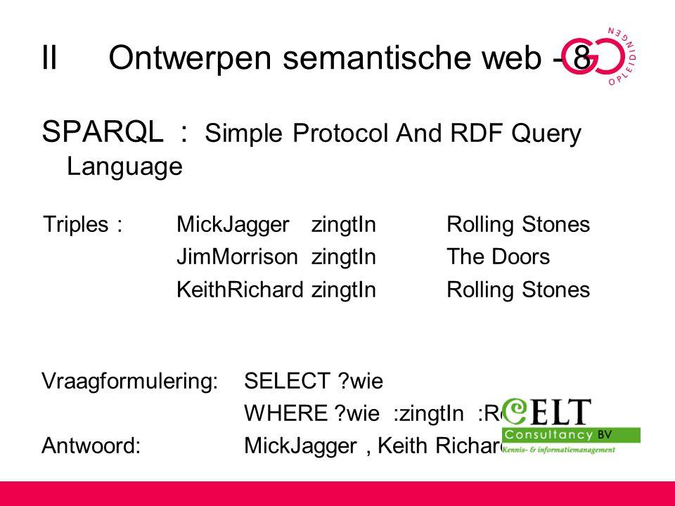 II Ontwerpen semantische web - 8