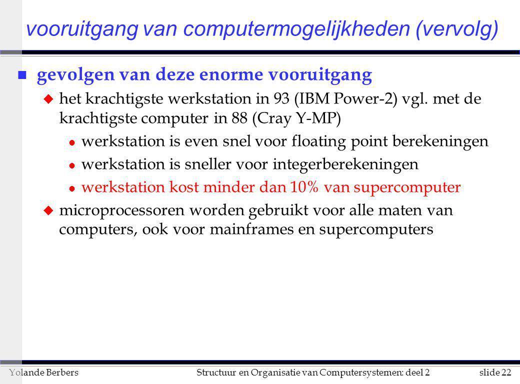 vooruitgang van computermogelijkheden (vervolg)