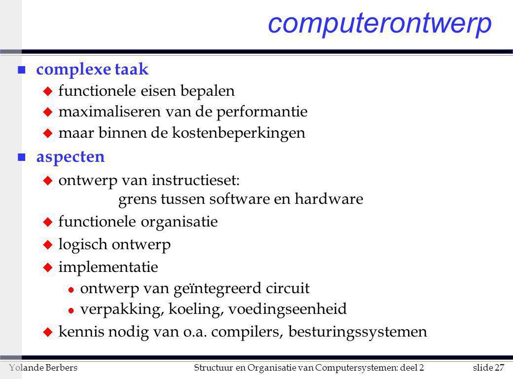 computerontwerp complexe taak aspecten functionele eisen bepalen