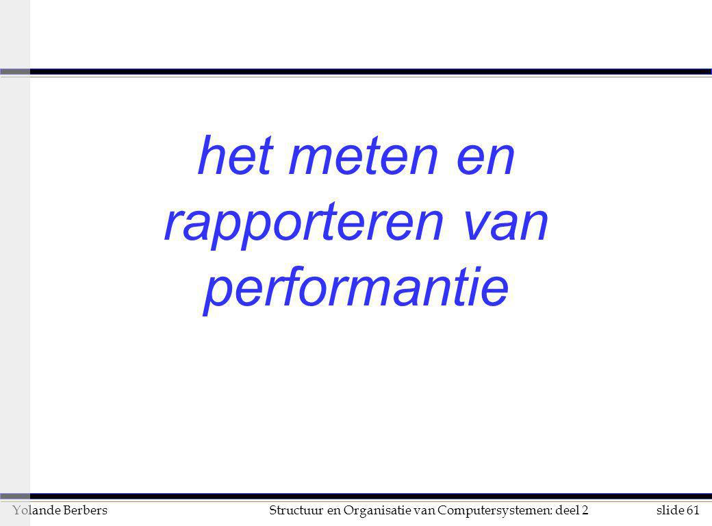het meten en rapporteren van performantie