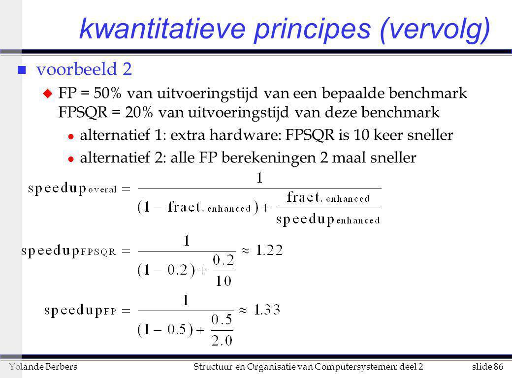 kwantitatieve principes (vervolg)