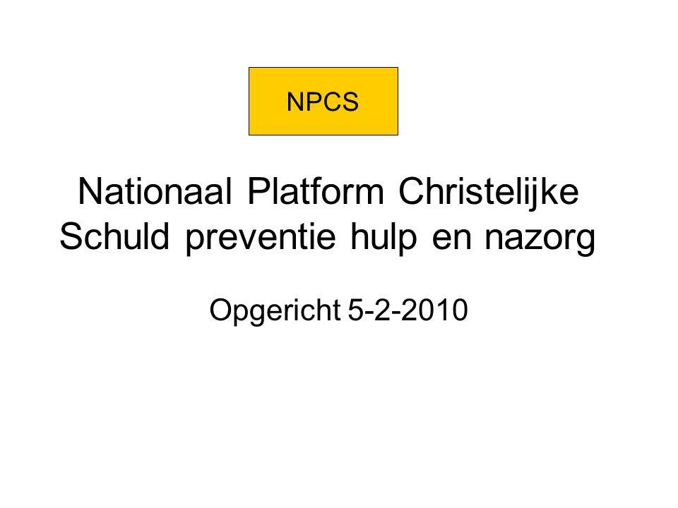 Nationaal Platform Christelijke Schuld preventie hulp en nazorg