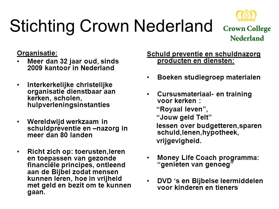 Stichting Crown Nederland
