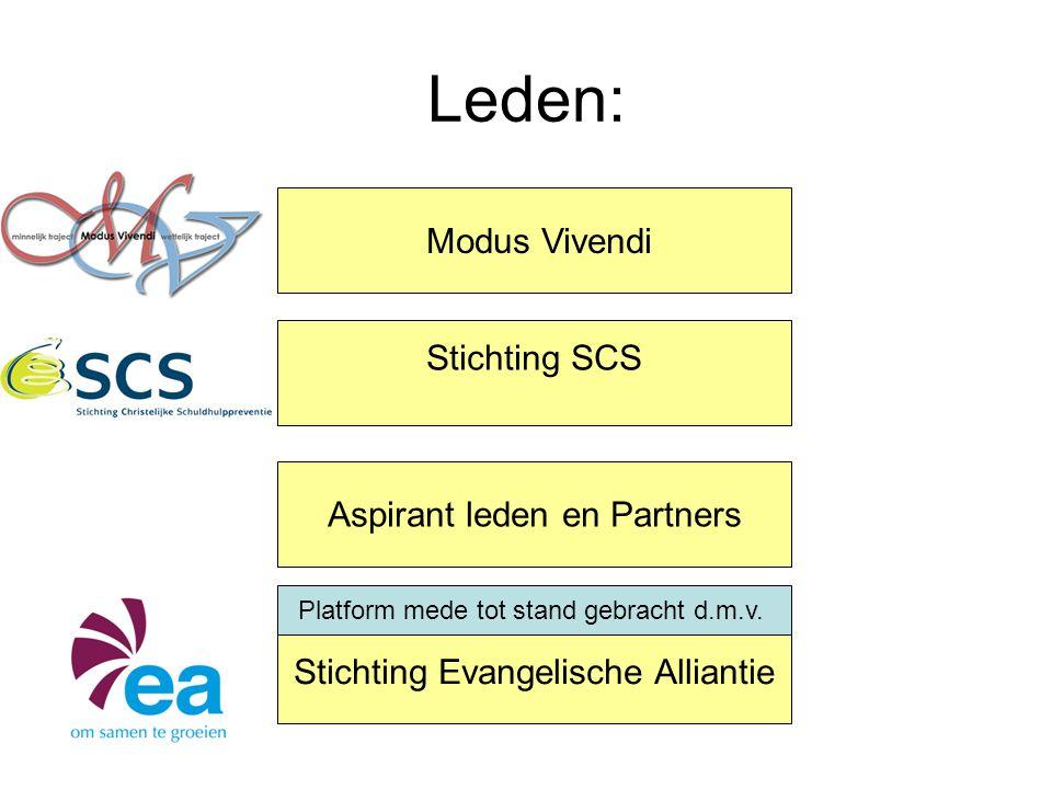 Leden: Modus Vivendi Stichting SCS Aspirant leden en Partners