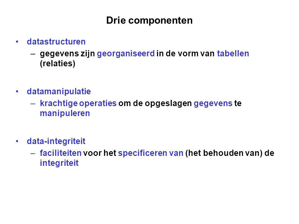 Drie componenten datastructuren