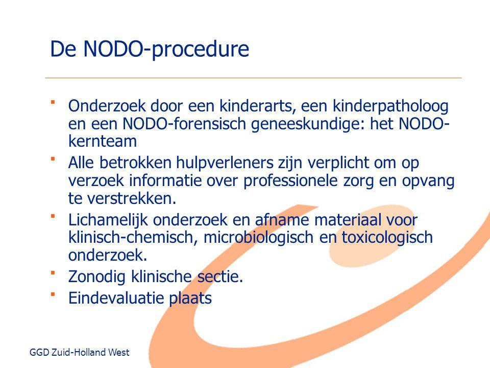 De NODO-procedure Onderzoek door een kinderarts, een kinderpatholoog en een NODO-forensisch geneeskundige: het NODO-kernteam.