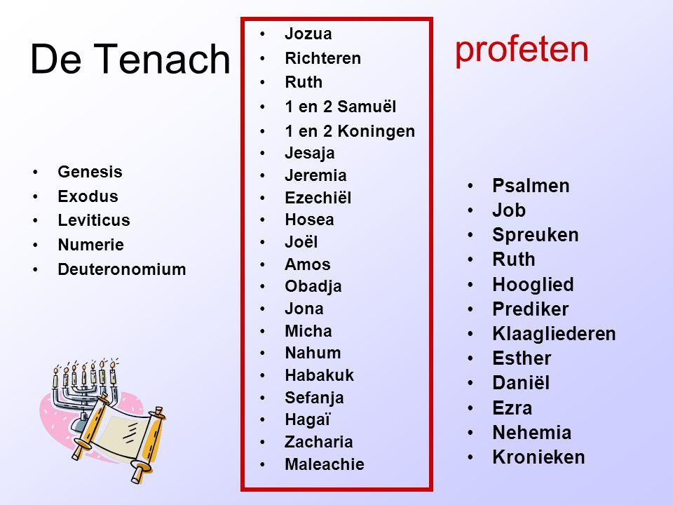 De Tenach profeten Psalmen Job Spreuken Ruth Hooglied Prediker