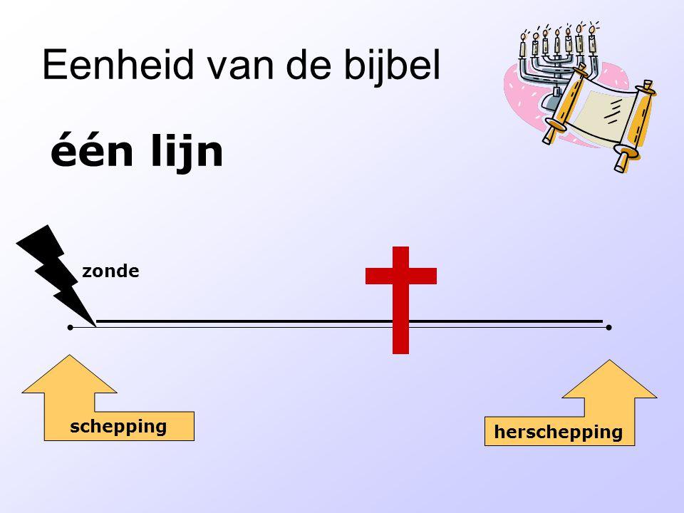 Eenheid van de bijbel één lijn zonde schepping herschepping