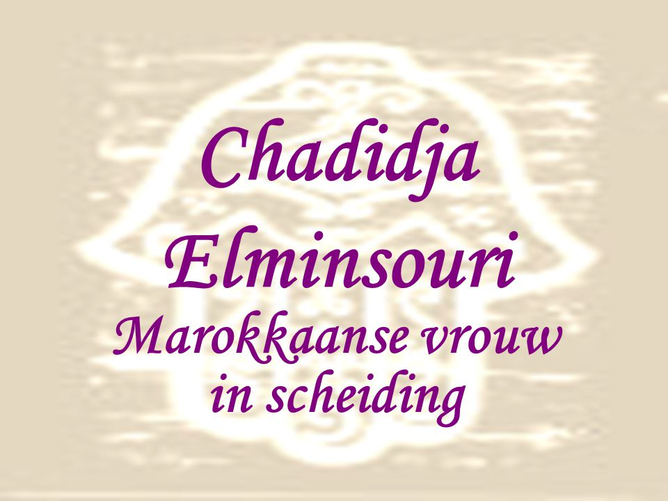 Marokkaanse vrouw in scheiding