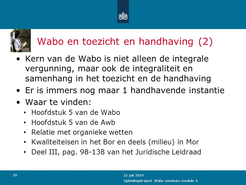 Wabo en toezicht en handhaving (2)
