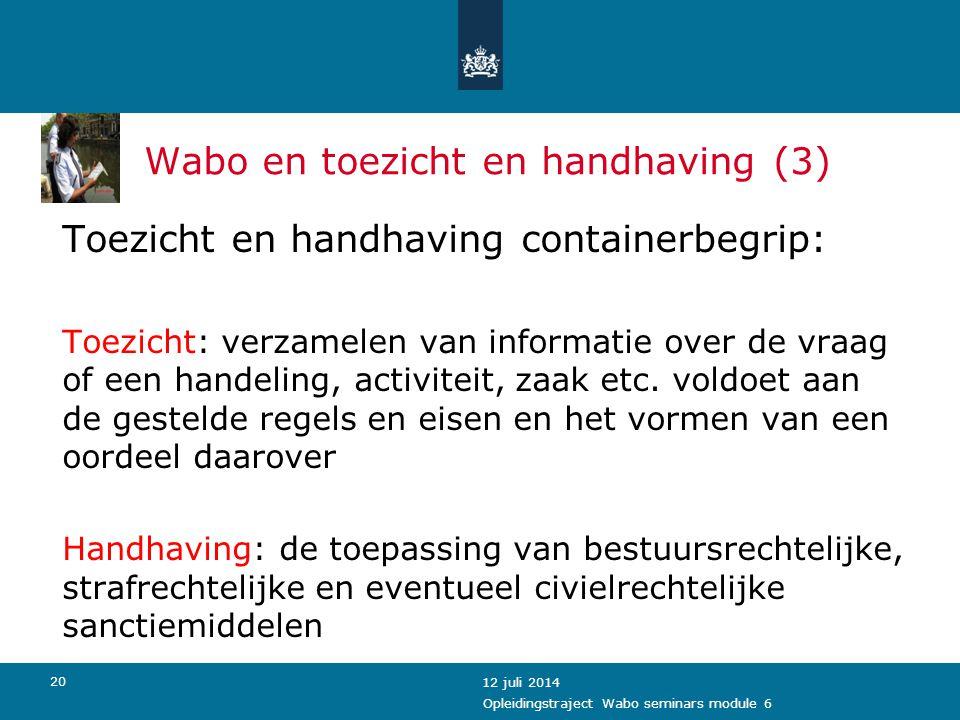 Wabo en toezicht en handhaving (3)