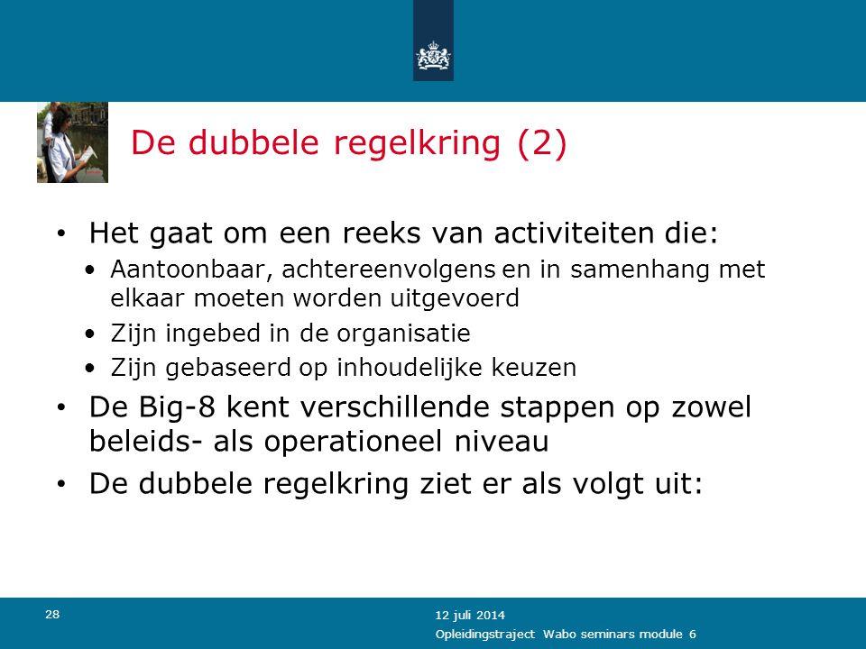 De dubbele regelkring (2)