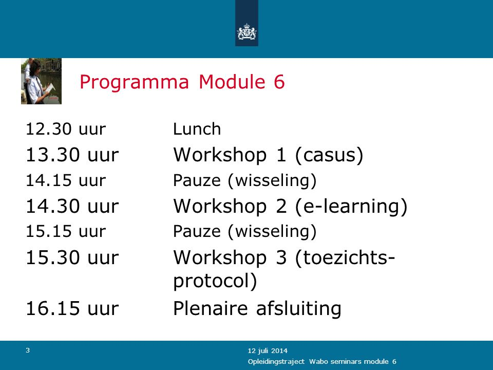 14.30 uur Workshop 2 (e-learning)