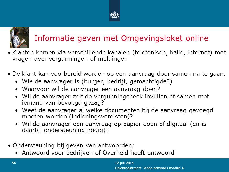 Informatie geven met Omgevingsloket online