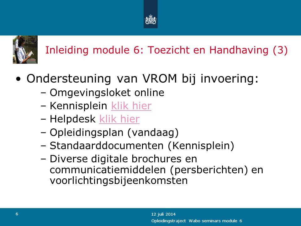 Inleiding module 6: Toezicht en Handhaving (3)
