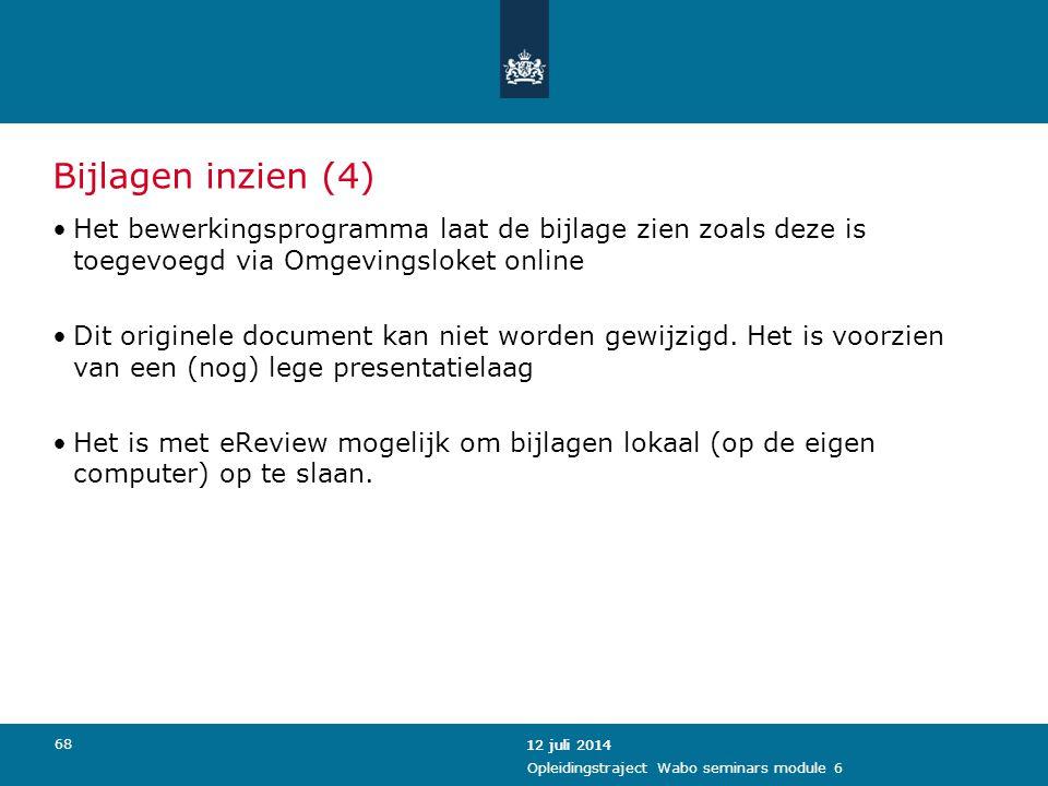 Bijlagen inzien (4) Het bewerkingsprogramma laat de bijlage zien zoals deze is toegevoegd via Omgevingsloket online.