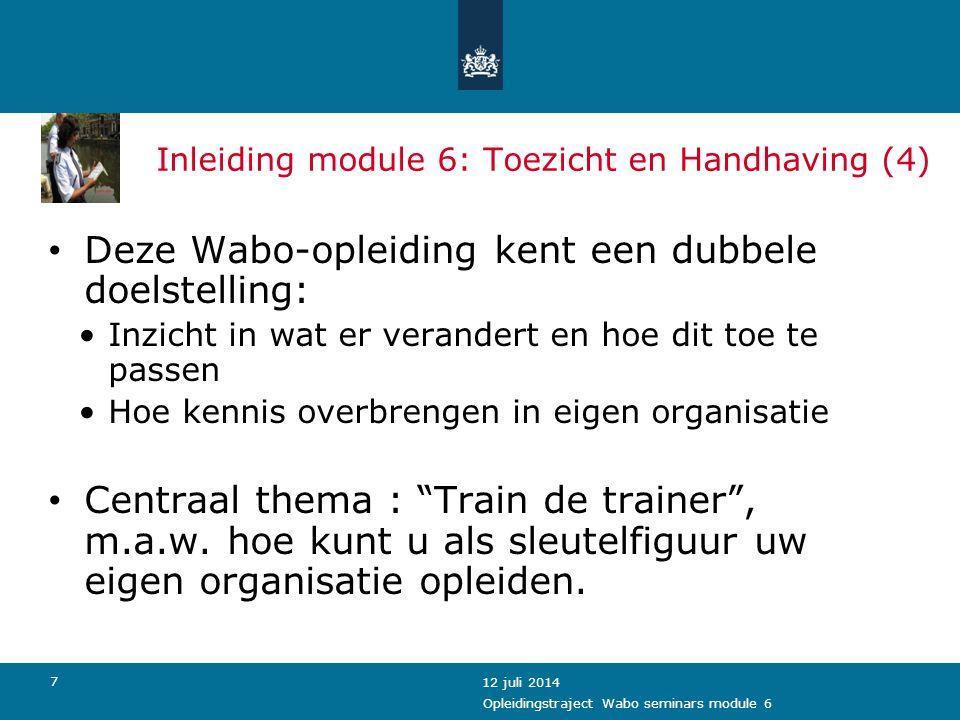 Inleiding module 6: Toezicht en Handhaving (4)
