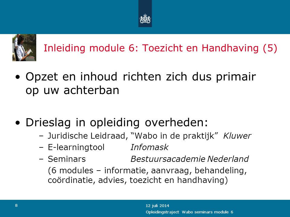 Inleiding module 6: Toezicht en Handhaving (5)