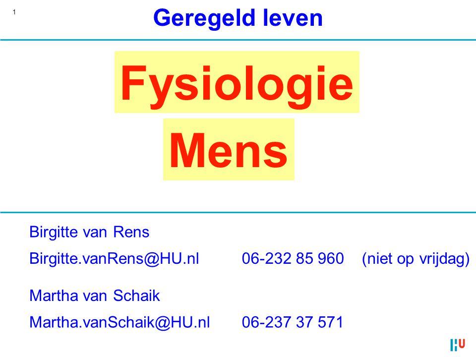 Fysiologie Mens Geregeld leven Birgitte van Rens