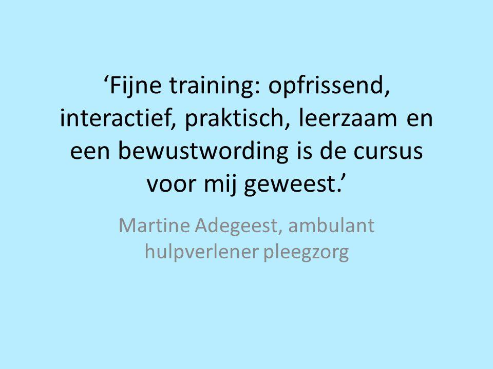 Martine Adegeest, ambulant hulpverlener pleegzorg