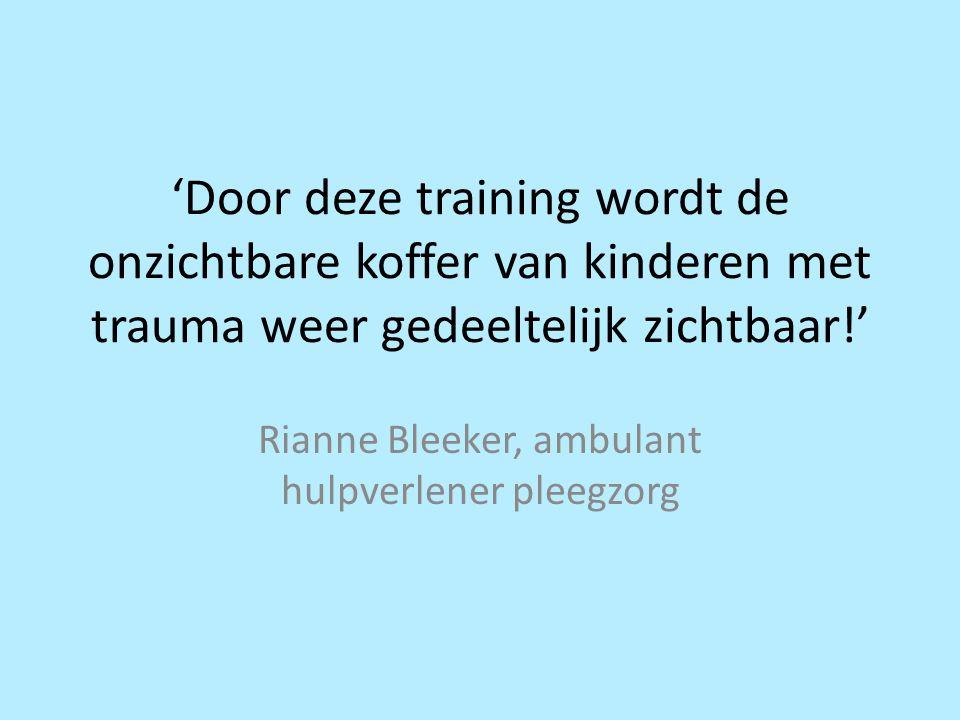 Rianne Bleeker, ambulant hulpverlener pleegzorg
