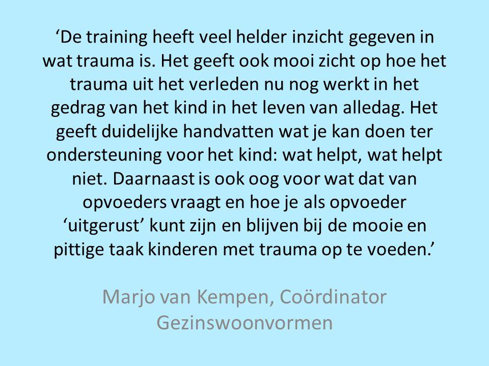 Marjo van Kempen, Coördinator Gezinswoonvormen