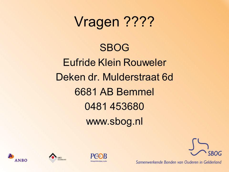 Vragen SBOG Eufride Klein Rouweler Deken dr. Mulderstraat 6d