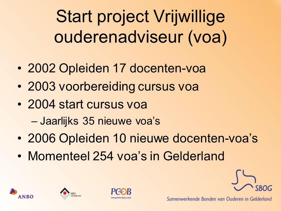 Start project Vrijwillige ouderenadviseur (voa)