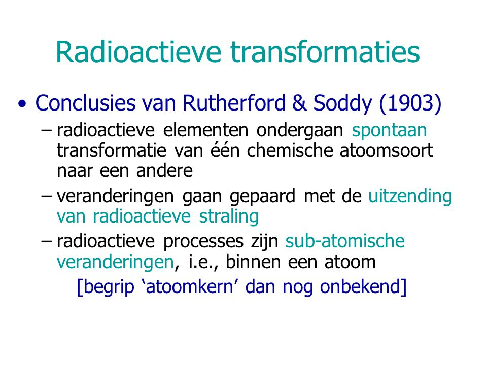 Radioactieve transformaties