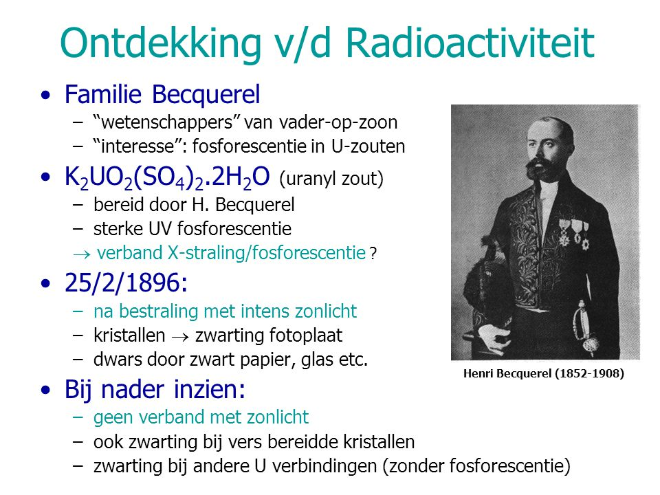 Ontdekking v/d Radioactiviteit