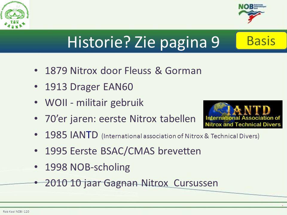Historie Zie pagina 9 Basis 1879 Nitrox door Fleuss & Gorman
