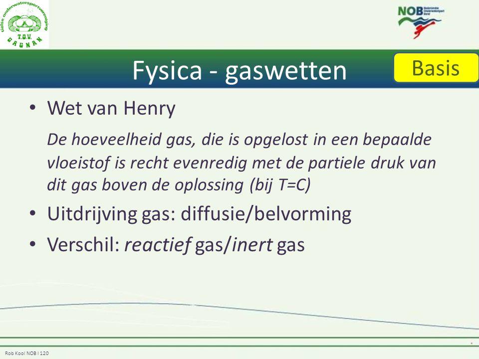Fysica - gaswetten Basis Wet van Henry