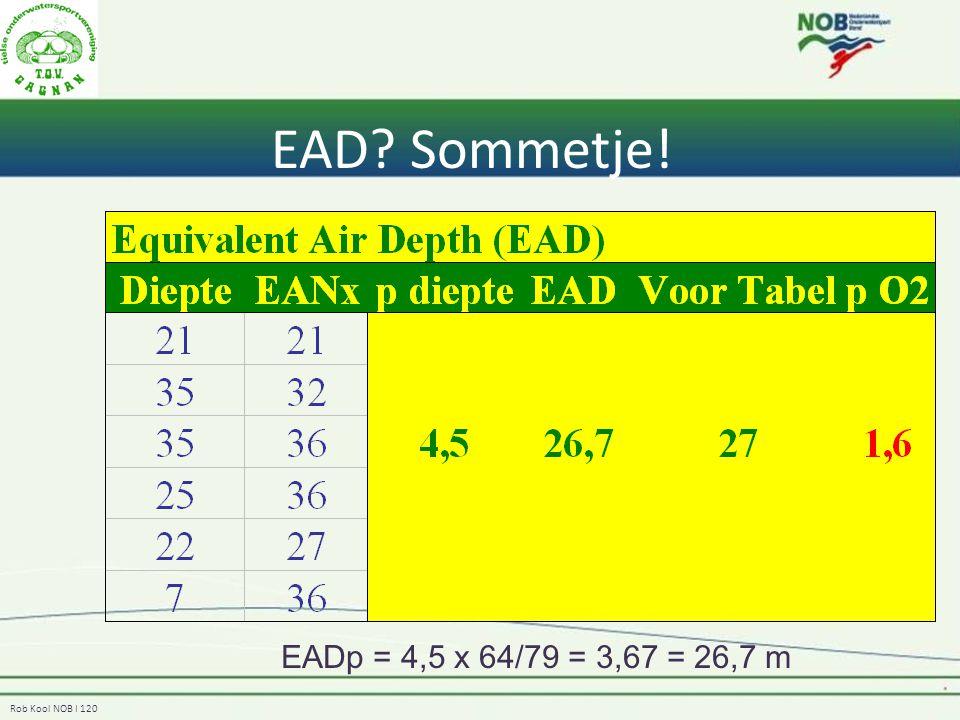 EAD Sommetje! EADp = 4,5 x 64/79 = 3,67 = 26,7 m